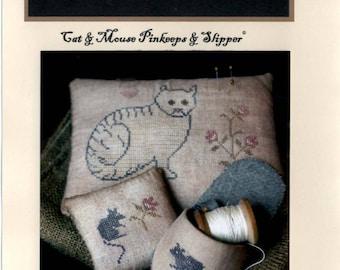 Stacy Nash Primitives: Cat and Mouse Pinkeeps & Slipper - Cross Stitch Pattern