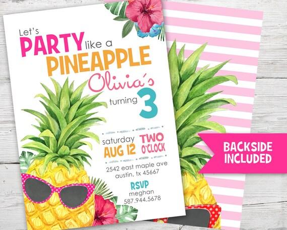 Pineapple birthday invitation party like a pineapple invitation il570xn filmwisefo