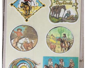 Western Cowgirl Stickers by Artist Donna Mallory
