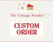 Special custom order for Antoinette
