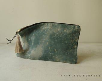 Boho clutch bag. Linen Pouch. Bag organizer. passport ticket pouch. cosmetic pouch. wallet linen purse. Clutch bag. Bag in bag.