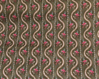 Floral Fabric 100% Cotton Sold by the Yard
