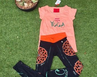Black Leggings, Yoga Pants, Positive Vibes, Womans Clothing, Gym, Training, Unique Design, Handpainted Leggings