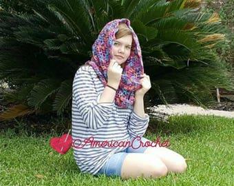 Madeline's Sunset Cowl Crochet Pattern