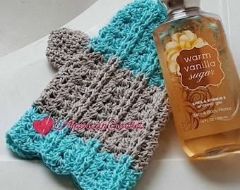Vintage Lace Shells Bath Mitt  Crochet Pattern