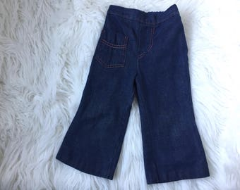 Vintage Childs Jeans Size 2T Flare Elastic Waist Boy Girl