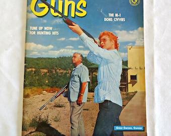 Guns Magazine 1960 August Edition Vintage