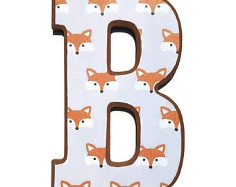 Fox Nursery Letters, any name! Price per letter, woodland letters.