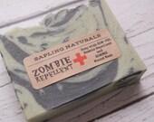 Zombie Repellent Soap - zombie, man soap, man gift, zombie apocalypse, zombie stocking stuffer, horror, funny soap, gag gift, prepper