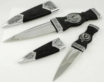 Two Piece Scottish Sgian ritual athame (dagger) set
