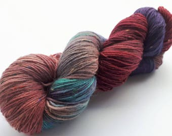 Hand dyed Twed sock yarn hand painted: Individualist