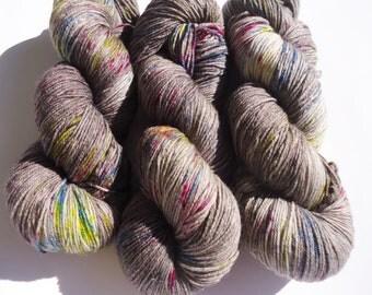 Fine Merino Socks hand dyed yarn hand painted sock yarn speckled: cloud no 3