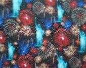 NYC New York City Statue Of Liberty Fireworks Digital Cotton Fabric Fat Quarter Or Custom Listing