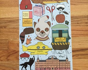 Wes Anderson Tattoo Flash Sheet