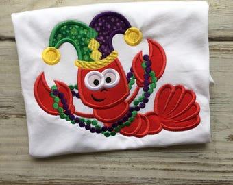 Mardi Gras Crawfish shirt