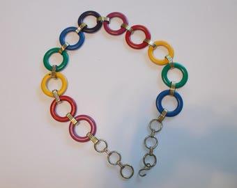 Colorful Circles MOD Vintage Chain Belt