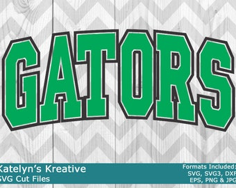Gators Arched SVG Files