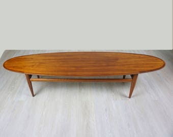 Drexel Heritage surfboard coffee table / Mid Century modern coffee table / Mid Century coffee table / Mid Century furniture