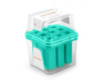 Teal Metal Stamp Block Holder, Metal Stamp Storage Container, Use with ImpressArt 4mm stamps, fits 9 stamps up to 8mm square, tol0810