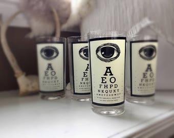 Retro Eye Test Tumblers Set of 4