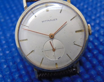 Mens 17 Jewel Wittnauer Vintage Mechanical Watch with Sub Seconds, Swiss