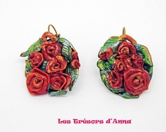 "Earrings ""The samba of roses"" earrings"