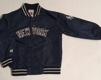 Vintage New York Yankees Youth/Childrens Majestic Button Up Jacket