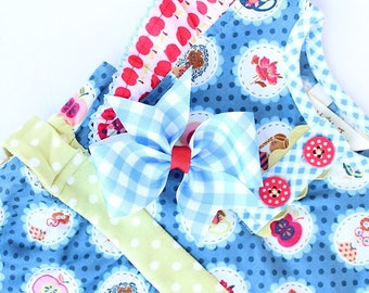 MJ Bows - Teacher's Pet Lucy - small bow made to match Matilda Jane Clothing, Back To School