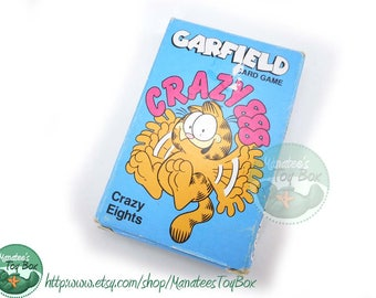 Vintage Garfield Crazy Eights Card Game Playing Cards