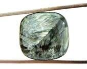 Seraphinite Cabochon Gemstone (20mm x 20mm x 5mm) 20cts - Square Cabochon Stone