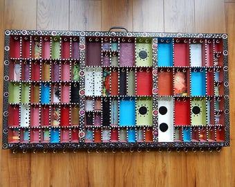 Printer Tray Jewelry Organizer Storage Hand Decorated Letterpress Drawer FREE SHIP