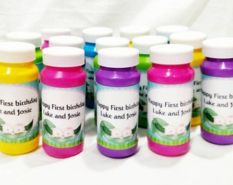 Personalized Kids Birthday Party Favors Personalized Kids Favors   Party Favor Bubbles