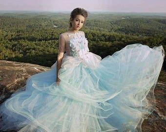 Couture Cinderella inspired tulle tutu dress