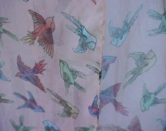pale pastel rainbow bird scarf