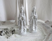 PETITE MADONNA Our Lady Of Fatima x-small Statue Jeanne D Arc Living French Nordic Shabby Chic Quiet Living