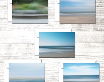 Impressionist Set of 10 Note Cards | Fine Art Photography Greeting Cards | Beach theme cards | Greeting Card Set