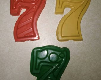Recycled Crayons. Number Crayons. Numbers. Kids Crayons. Counting. Learning. Party Favors. Crayons. Rainbow Crayons. Number 7 Crayon.