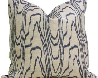 Lee Jofa Groundworks Agate Slate Linen Pillow Cover,  Throw Pillow, Accent Pillow, Toss Pillow, Kelly Wearstler