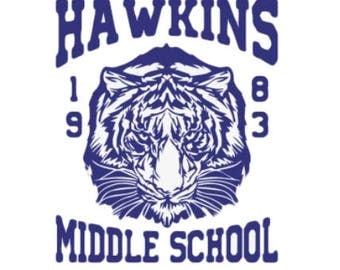 Hawkins Middle School Tigers 1983 Stranger Things Gift, Stranger Things Christmas Gift, Temporary Tattoo, Gift for Her, Stranger Things Fan