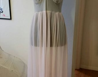 Gorgeous Evette gown in the palest blush pinky peach