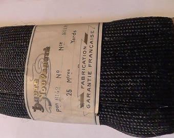 25M trim raphia natural vintage french braid