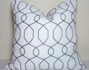 Taupe Grey White Sparkle Geometric Modern Geo Deco Home Decor by HomeLiving Size 18x18