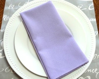 FALL is COMING SALE Sale Lavender Periwinkle Purple Napkin Table Decor Dining Room Size 16x16 17x17 Napkins