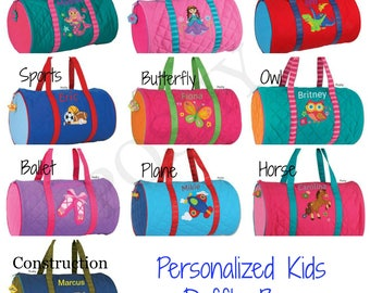 Personalized duffle bag, Stephen Joseph Duffle Bag in Girls Boys ,kids duffle