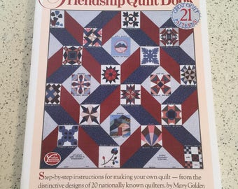 QUILTING BOOK- The Friendship Quilt Book, 21 Patterns, Instructions, How To