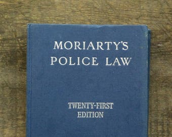 Moriarty's Police Law 1970s book