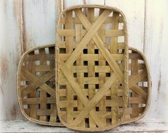 Tobacco Basket, Fixer Upper Style, Farmhouse Style, Magnolia Market, Wall Basket, Rustic Wall Art, Primitive Basket, Gallery Wall Decor, DIY
