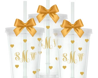 Monogram Tumbler | Bachelorette Party | Bridal Shower