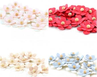 Fabric Flowers Applique Self Adhesive 12 pcs