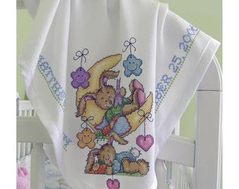 """Charles Craft-Infant Receiving Blanket 18 ct. (AF-7650-6750-BG) 30""""x30"""" White 100% Cotton; A great gift!"""